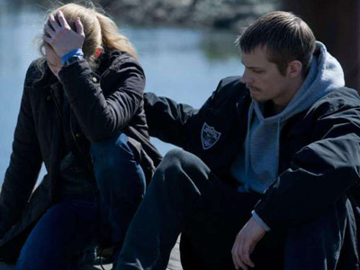 Sarah Linden and Stephen Holder in The Killing