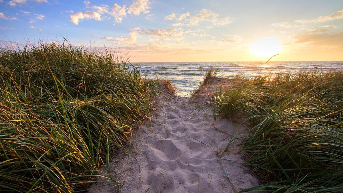 Beach in Michigan