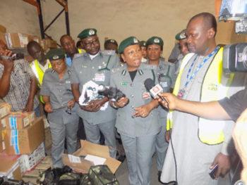 Customs intercepts military hardware in Lagos airport