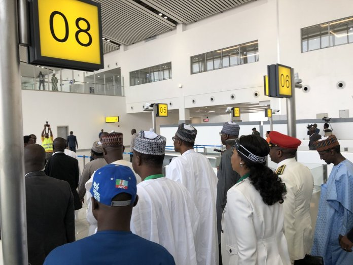 PHOTOS: Buhari commissions Abuja airport new international terminal