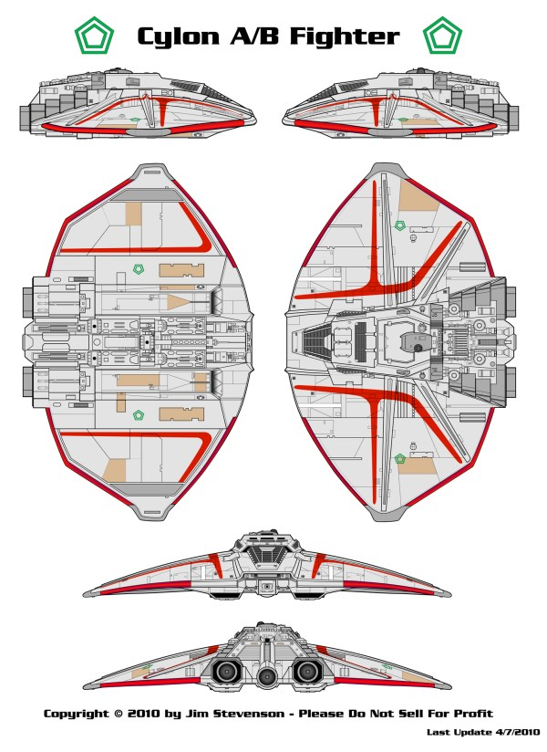 Starship Schematic Database All Cylon Vessels