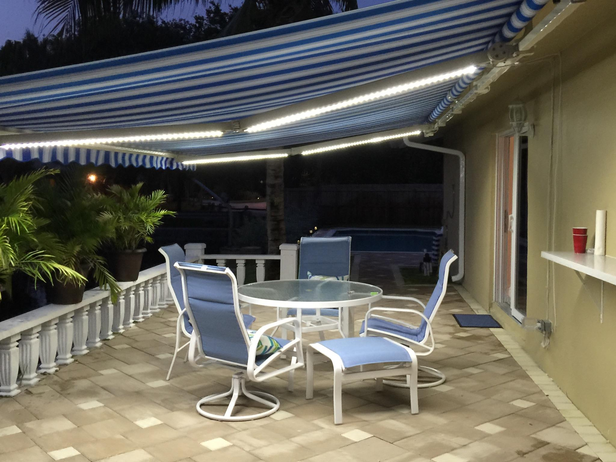 retractable sunsetter awning on a fort