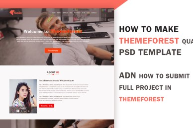 Themeforest quality PSd