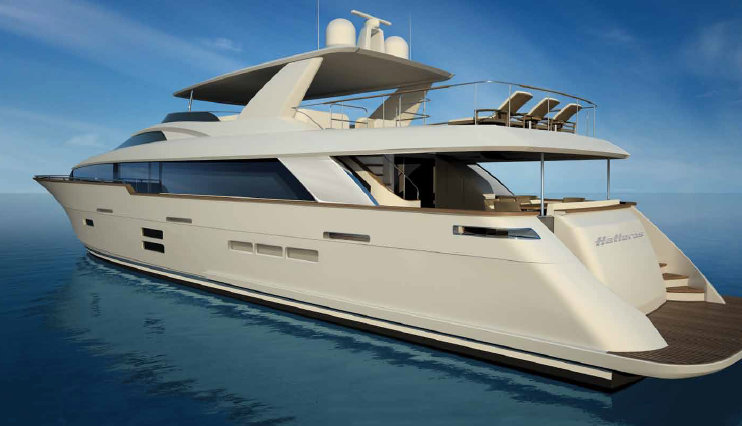 Hatteras New Luxury Yacht