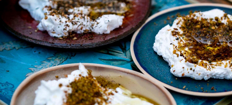 labneh au za'atar, recette végétarienne, recette sans gluten, épices biologiques, cuisine moyen-orientale, Épices Shira