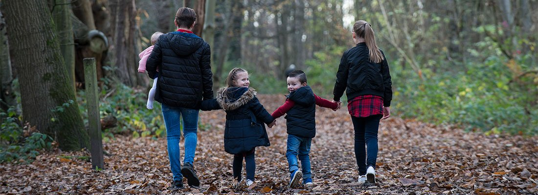Autumn Leaves on a Family Photoshoot
