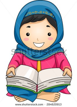 stock-vector-illustration-of-a-little-muslim-girl-reading-the-quran-284620913[1]