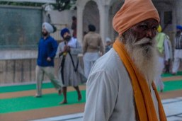 """Sat Sri Akaal- in the Punjabi language is a form of greeting used particularly by the followers of the Sikh religion. Roughly translated it means """"God is the ultimate truth"""". The Golden Temple, Amritsar, Punjab India November 2015"""