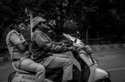 Ladies on motorcycle