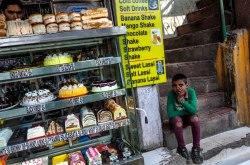 Meetha. A sweet shop along Mcleod Ganj leading to the Dalai Lama's monastery. India November 2015