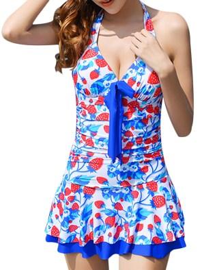 Women's Lovely Push-up Bandage One-piece Swimwear