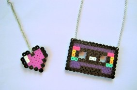 Perler bead necklaces