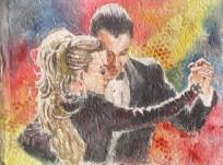 Red Tango, 9 x 12 in, watercolour on handmade saa paper