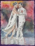 White on White II, 12 x 9 in, watercolour on handmade saa paper
