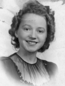 Barbara Ann Hess, age 17. 1945.