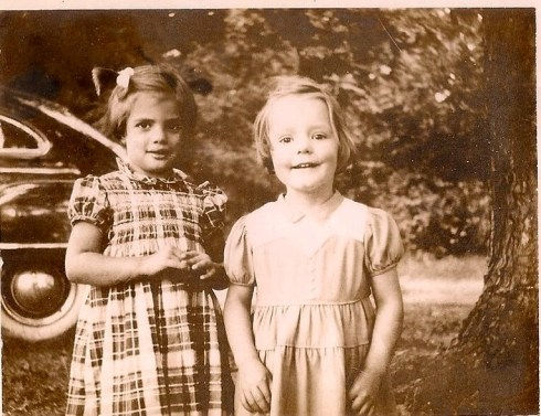 Carol Martin and Shirley Hershey about 1952