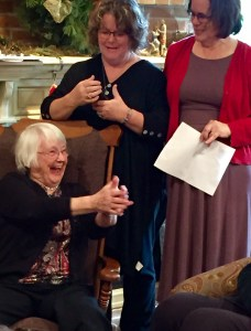 My mother Barbara Ann Hershey Becker, with my sisters Linda and Doris.