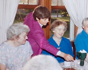 Lighting a candle between two wise women, July 27, 1992