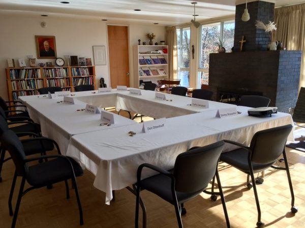 Butler Center conference room set up for seminar.