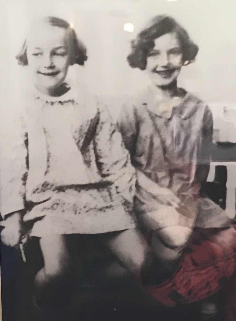 Flannery O'Connor and her friend Elizabeth. Can you guess which one she is?
