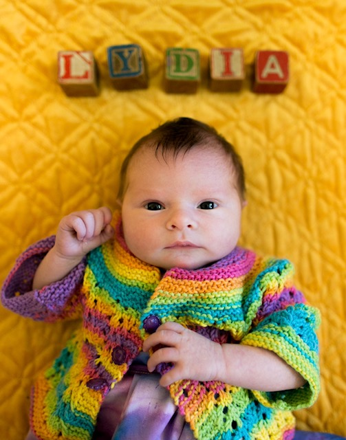 The star of the show: Lydia Ann Stoltzfus.