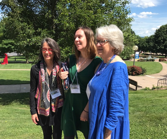Connie Braun, Jessica Smucker, Ann Hostetler converge on the campus of Eastern Mennonite University.