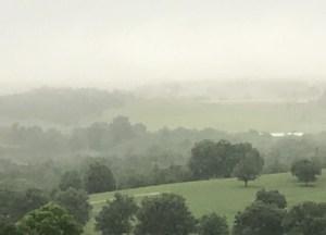 June 23, 2018, misty morning