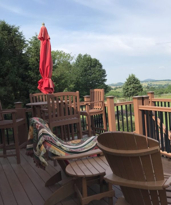 The deck and its view. My favorite place to be for the last eight years.