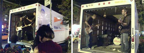 It is a truck and a band