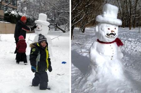 家附近的雪人