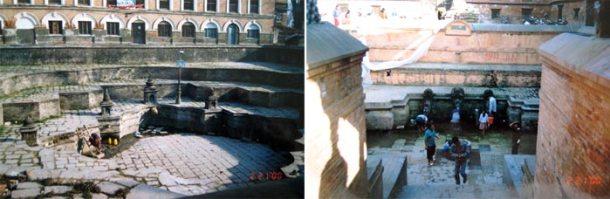 尼泊尔贫穷,不是每个人家里都有自来水。这个公共的bath pool就成了人民取水或来洗个澡的地方。