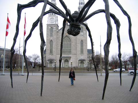 Spider in front of National Gallery of Canada. Love it !