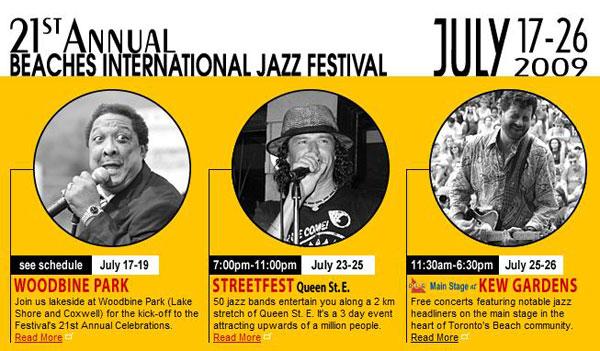 21st The Beaches International Jazz Festival, Toronto, 2009