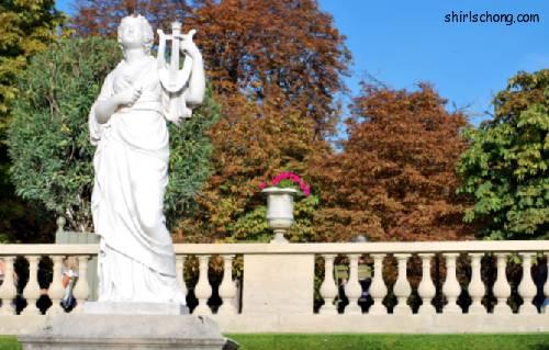 古典塑像,巴黎公园