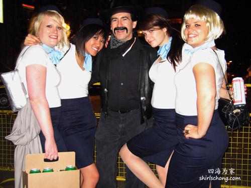 Stewardess, Halloween Street Party, Toronto