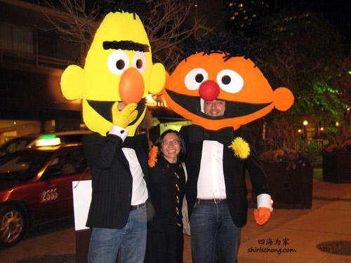 Bert & Ernie (Halloween Street Party, Toronto)