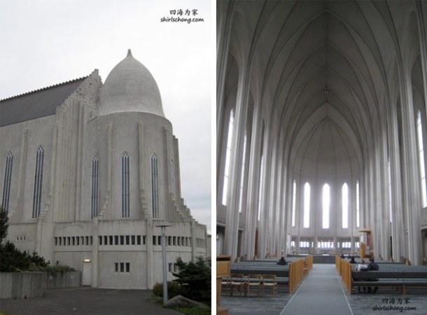 城内的一间教堂 (冰岛首都雷克雅未克 Reykjavik)