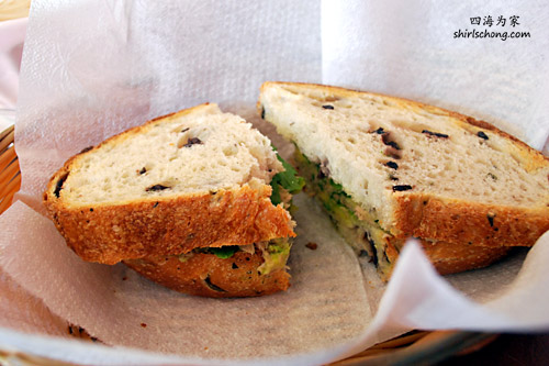 Olive Bread at Epi d'Or French Cafe, Kirribilli, Sydney, Australia