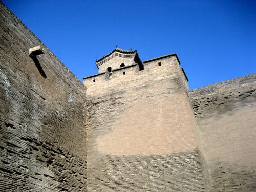 平遥古城的城墙 (中国山西)