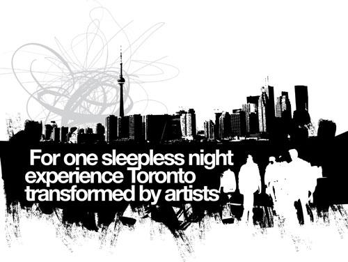"多伦多的""白色夜晚"" (Toronto Scotiabank Nuit Blanche 2010)"