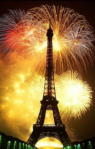 Paris New Year Fireworks