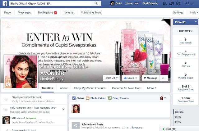 Create an Avon Facebook Page
