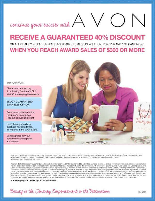 Avon Representative Incentives
