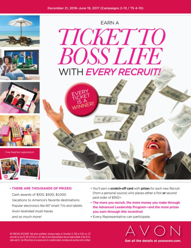 Current Avon Representative Incentives