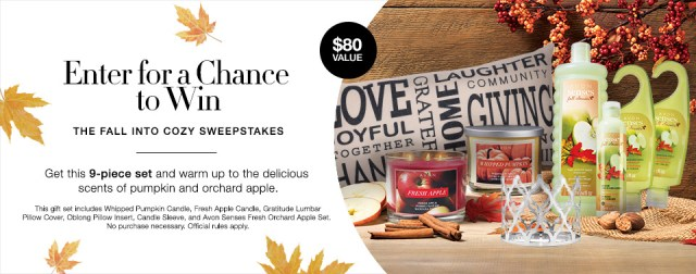 Avon Fall Into Cozy Sweepstakes