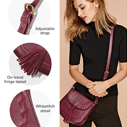 FREE Whipstitch Saddle Cross Body Bag