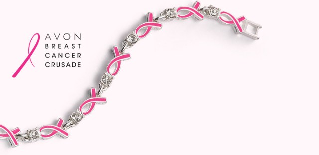 Breast Cancer Crusade Ribbon Tennis Bracelet