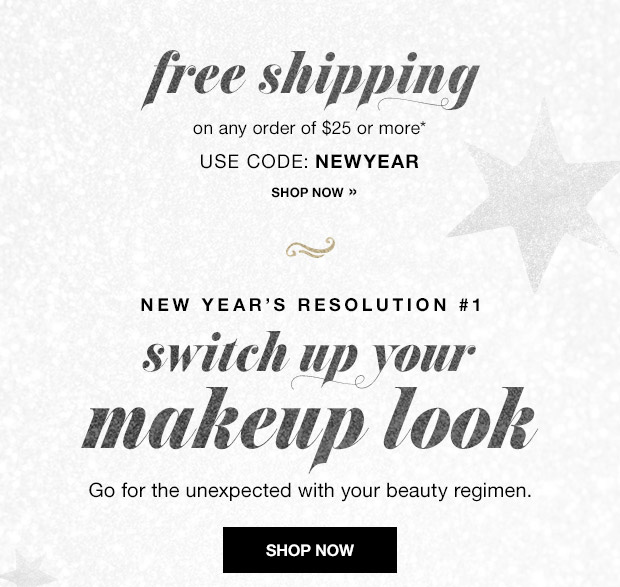 New Years Makeup Looks and FREE shipping!