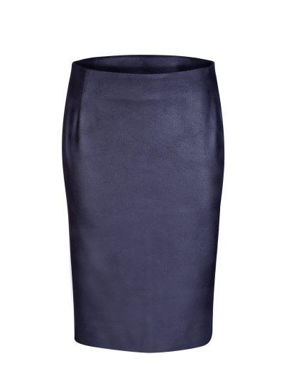 rok leatherlook voorkant-Blauw