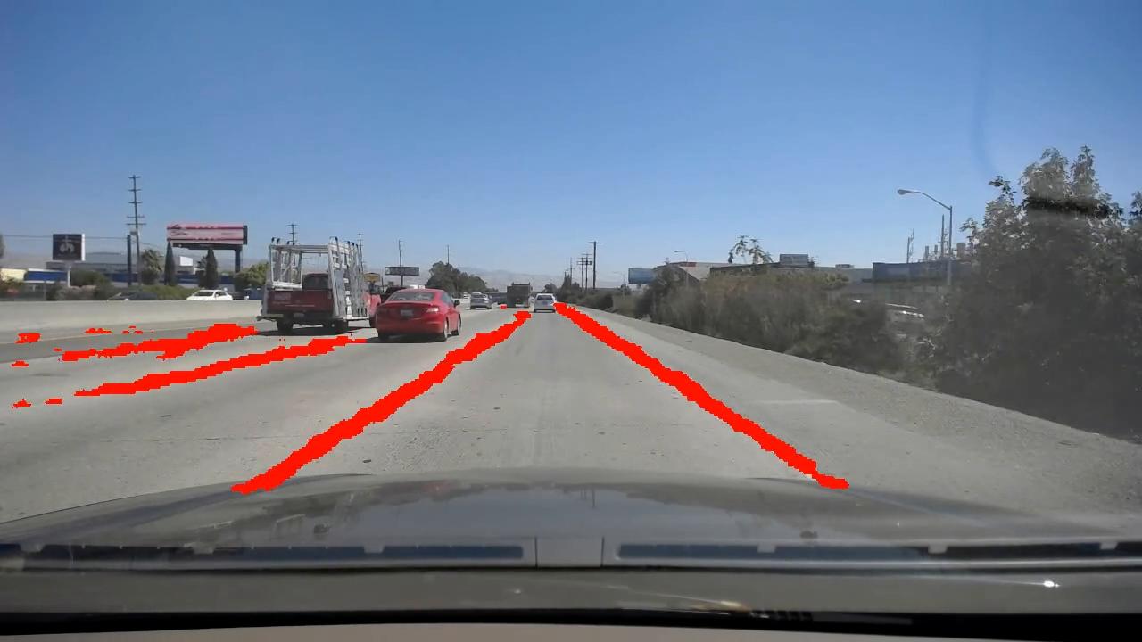 Robust Highway Lane Segmentation Based on LaneNet Trained